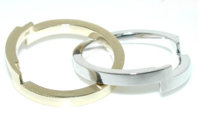 size is 6 12 but sizing to what you need - Puzzle Wedding Rings
